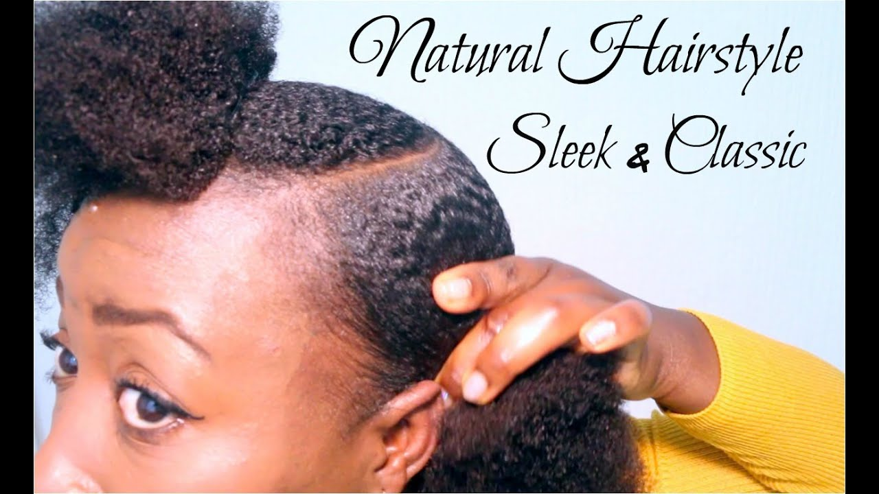 Natural Hairstyle Cute Simple Sleek Low Afro Puff On Short