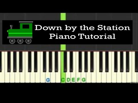 Down by the Station: easy piano tutorial with free piano sheet music