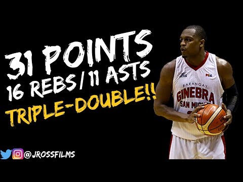 Justin Brownlee Triple-Double Vs.TnT 11.4.2018   31 PTS, 16 REBS, 11 ASTS!