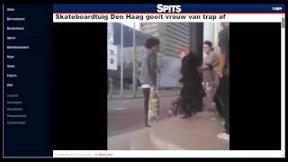 Haagse skater duwt vrouw van de trap af. Wat er ECHT gebeurde.
