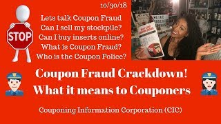 Coupon Fraud Crackdown 10 30 18 What It Means To Couponers Lets Talk Coupon Fraud Youtube