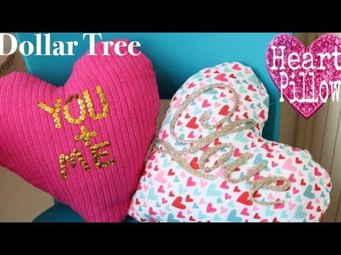 Dollar Tree DIY Heart Shaped Pillows | DIY Heart Pillow