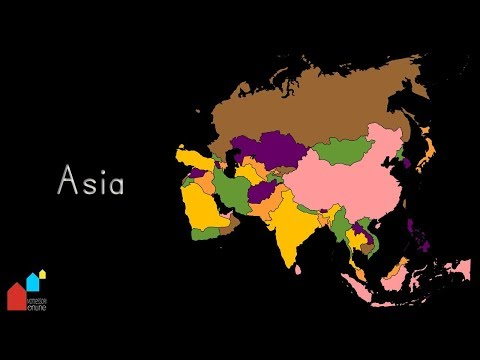 Countries of Asia, their Capital Cities and their Flags - Montessori Geography Presentation