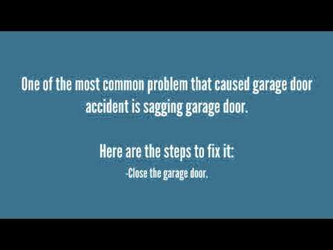 How To Fix Sagging Garage Door Youtube