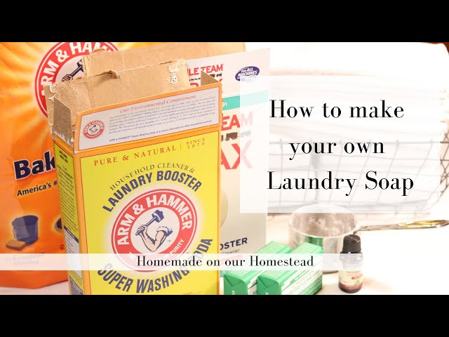 DIY homemade laundry detergent | HOW TO MAKE YOUR OWN LAUNDRY SOAP