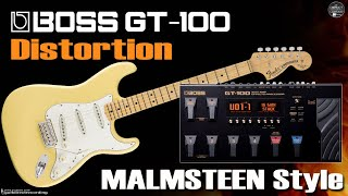 Download Video BOSS GT-100 MALMSTEEN Distortion - Guitar Patches. MP3 3GP MP4
