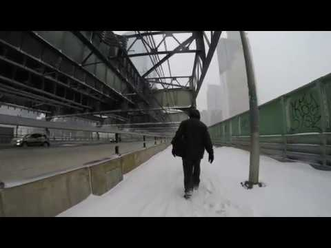 "⁴ᴷ Walking home during ""NYC's Bomb Cyclone"" from Long Island City to Astoria 