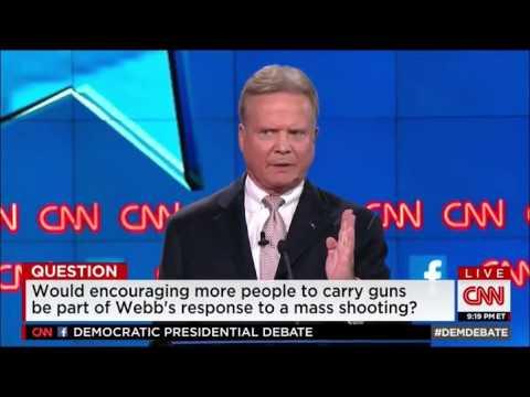 Jim Webb exposes liberal hypocrisy on guns at Democratic debate