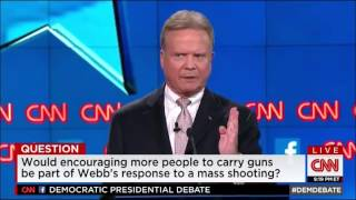 Jim Webb exposes liberal hypocrisy on guns at Democratic debate