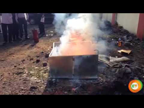 Automatic Fire Extinguisher Demo  | Energy & Fire | Fire1on1 | Hyderabad