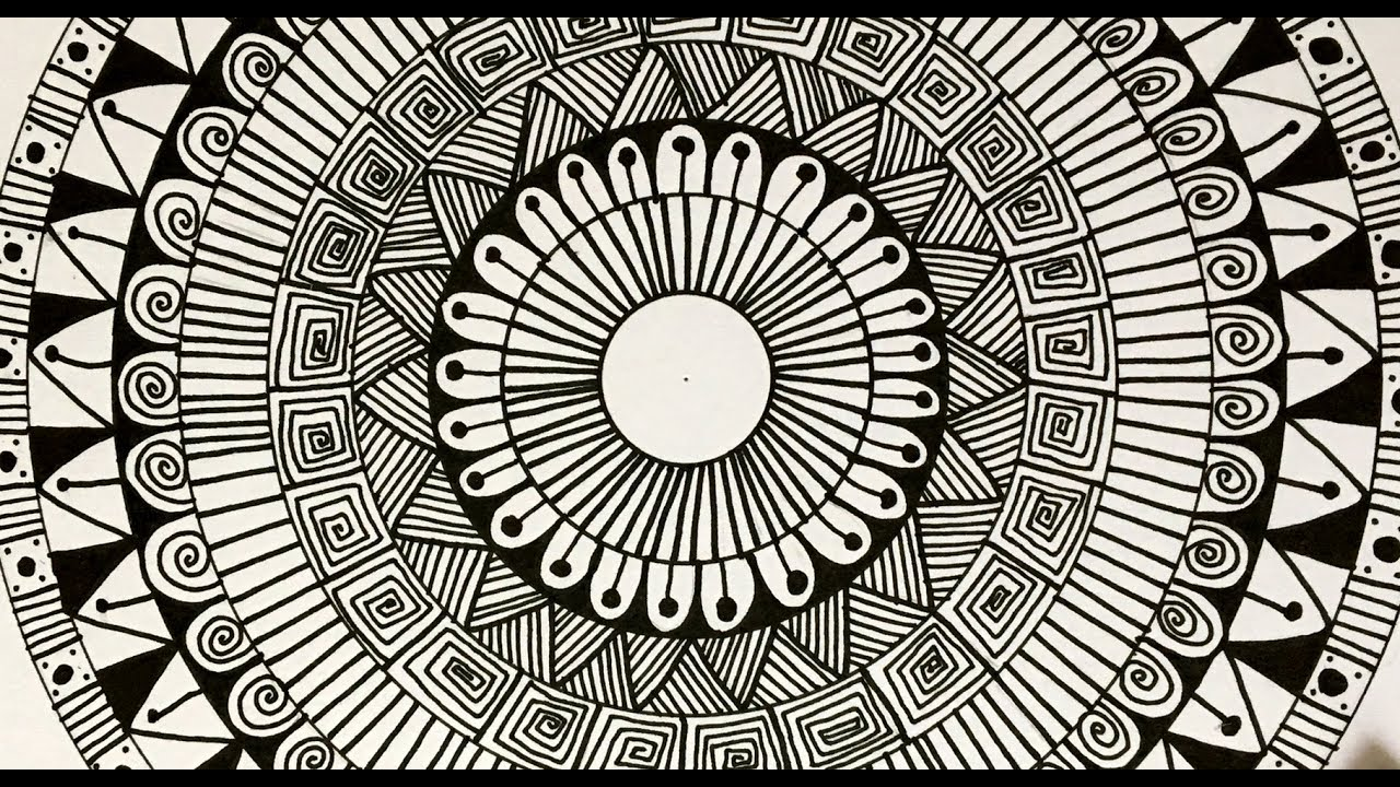 How To Draw Simple And Easy Mandala Youtube