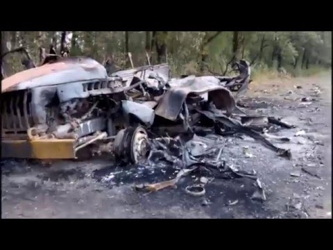Российская колонна, сожженная у села Лисичье