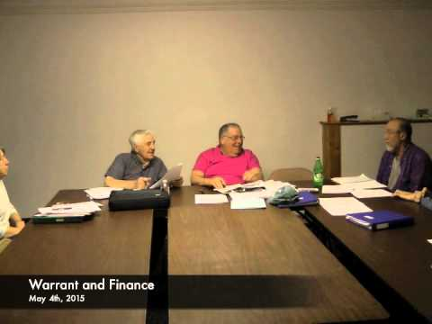 Warrant and Finance - 05-04-2015