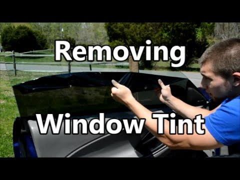 How To Remove Window Tint And Glue In 10 Minutes Doovi