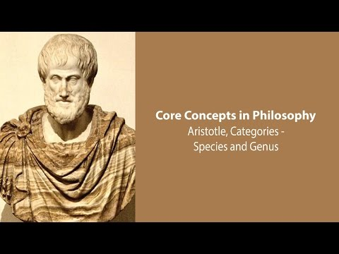 Aristotle on Species and Genus (Categories, c.5) - Philosophy Core Concepts