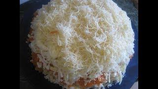 Салат из консервированной горбуши А ля селедка под шубой