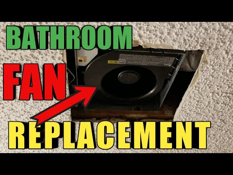 Replace And Install A Bathroom Exhaust Fan No Attic