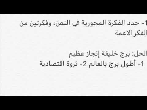 حل درس برج خليفة الصف السابع المنهاج الجديد Youtube