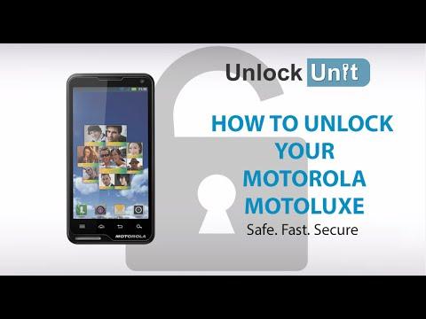 UNLOCK MOTOROLA MOTOLUXE - HOW TO UNLOCK YOUR MOTOROLA MOTOLUXE