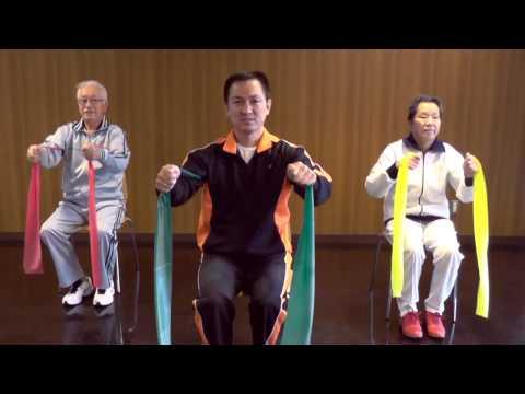 Exercícios com faixa elástica para idosos (Elastic band exercises)