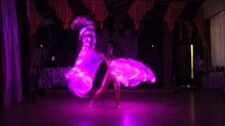 Восточные танец со светодиодными крыльями Люция