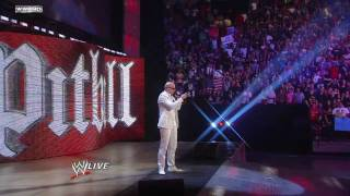 WWE Raw 5/2/11: Rapper Pitbull and Miami Heat Cheerleaders Join The Rock (HD)