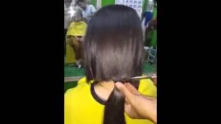 Potong rambut pendek