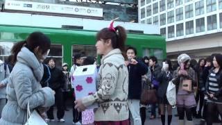 はるな 愛 、渋谷駅の前、tokyo shibuya , shibuya station.6 dias desp...