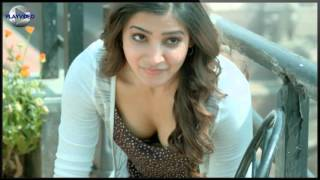 Samantha hot   boobs cleavage show