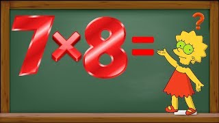 Учим таблицу умножения на (6 и 7) вместе с Лизой Симпсон