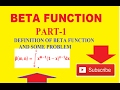 BETA FUNCTION DEFINITION AND PROBLEM