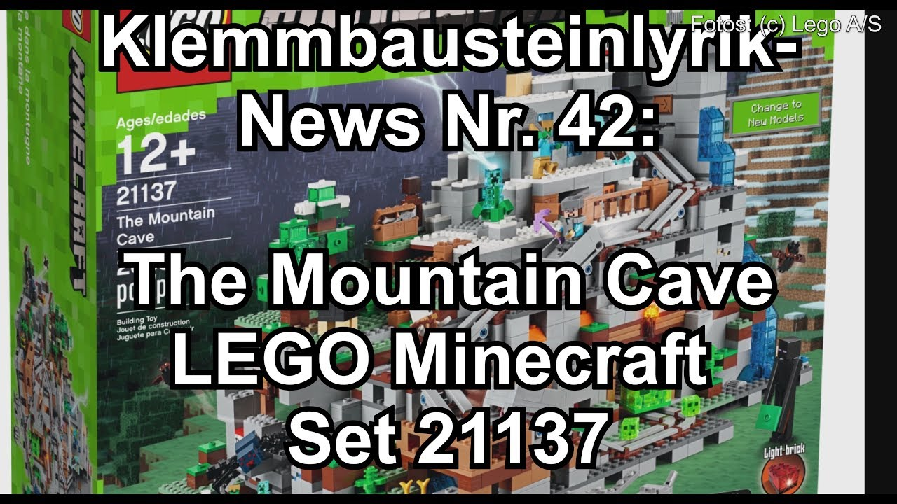 lego the mountain cave gr tes minecraft set aller zeiten. Black Bedroom Furniture Sets. Home Design Ideas