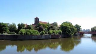 Wyspa Słodowa, Słodowa Island, Oder river, Wrocław, Lower Silesian, Poland, Europe