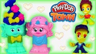 Play Doh Town • Trolle w mieście !!! • Poppy & Mruk • Kolorowe Fryzury • bajki i kreatywne zabawy