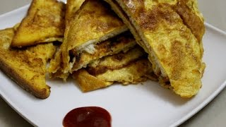 Bread Omelette Recipe-How To Make Bread Omelet Easy and Quick-Bread Sandwich-Bread Toast