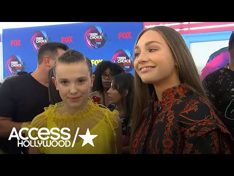 BFFs Millie Bobby Brown & Maddie Ziegler Are Adorable On The Teen Choice Awards Red Carpet
