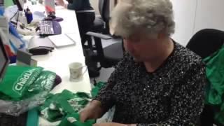 Betty Walker, 82, fundraising volunteer at ChildLine in Glasgow