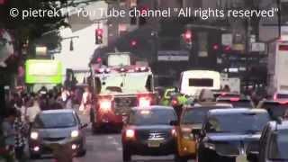 Responding fire truck FDNY Ladder 20 New York 2015 HD ©