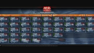 War Thunder - Upcoming Content - Italian Initial Release Tree (Re.2000/Re.2001CN Included)