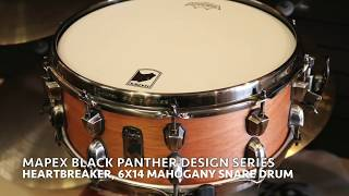 """Mapex Black Panther Design Lab series 14""""x6"""" Heartbreaker Mahogany Snare"""