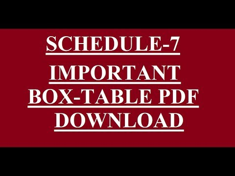 SCH-7 IMPORTANT BOX-TABLE PDF DOWNLOAD