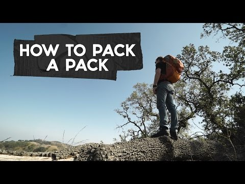 Going on an outdoor adventure? Here's how to (properly) pack a backpack