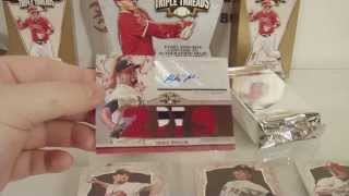 2014 Topps Triple Threads Baseball Box Break! MUST SEE!! INSANE!
