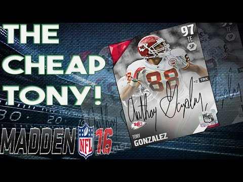 The Cheap 97 Overall Signature Tony Gonzalez |  Madden 16 Ultimate Team | Head to Head Gameplay