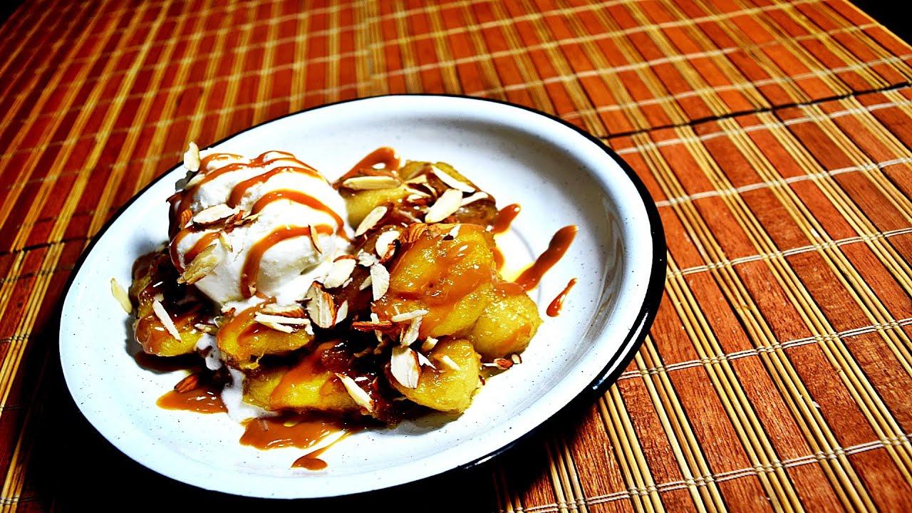 Resultado de imagen para plátano macho frito con helado