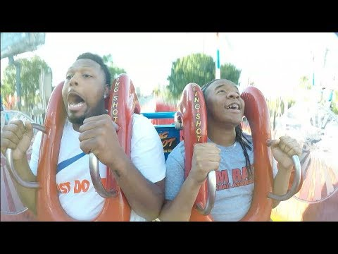 VON CRIES DURING HIS FIRST EVER  ROLLERCOASTER RIDE!!
