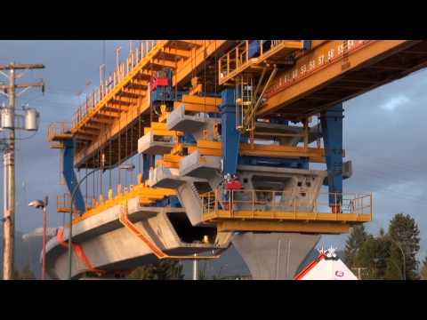 Sky Train Evergreen Line Construction Full HD February 21 2014 Bcnewsvideo