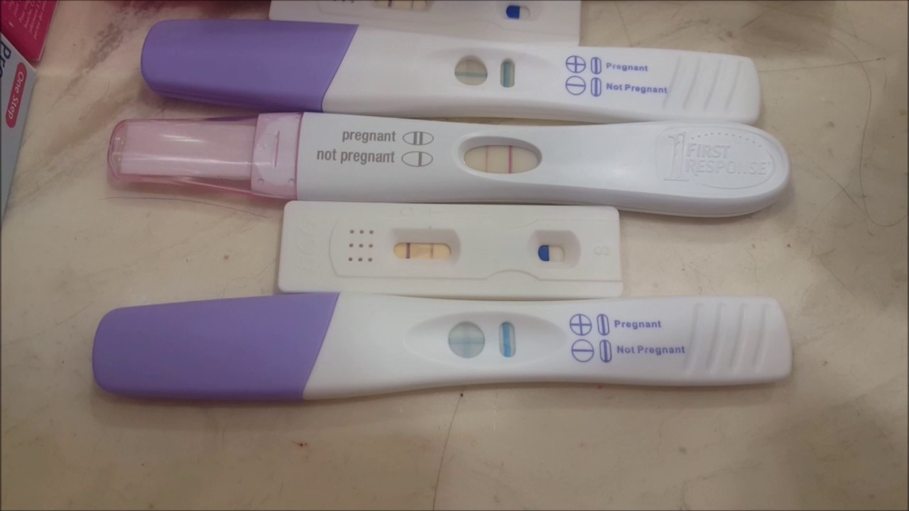 Pregnancy test Progression! 6 weeks Pregnant!