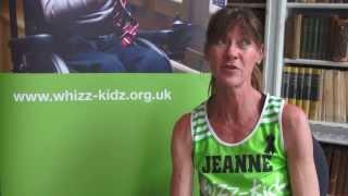 Whizz-Kidz Marathon runner Jean Barrett