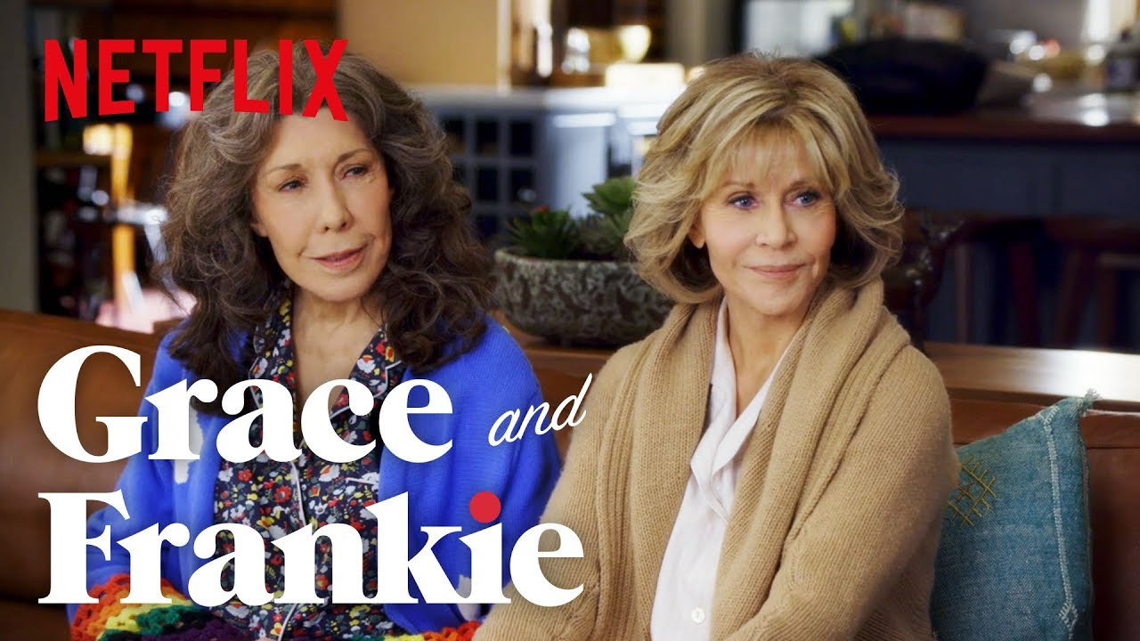 745bb8deff9763 Grace and Frankie | A Conversation with Jane Fonda, Lily Tomlin and RuPaul  Charles | Netflix